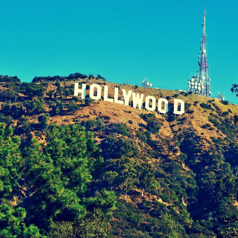 好莱坞签到挂接李,洛杉矶,美国 库存照片