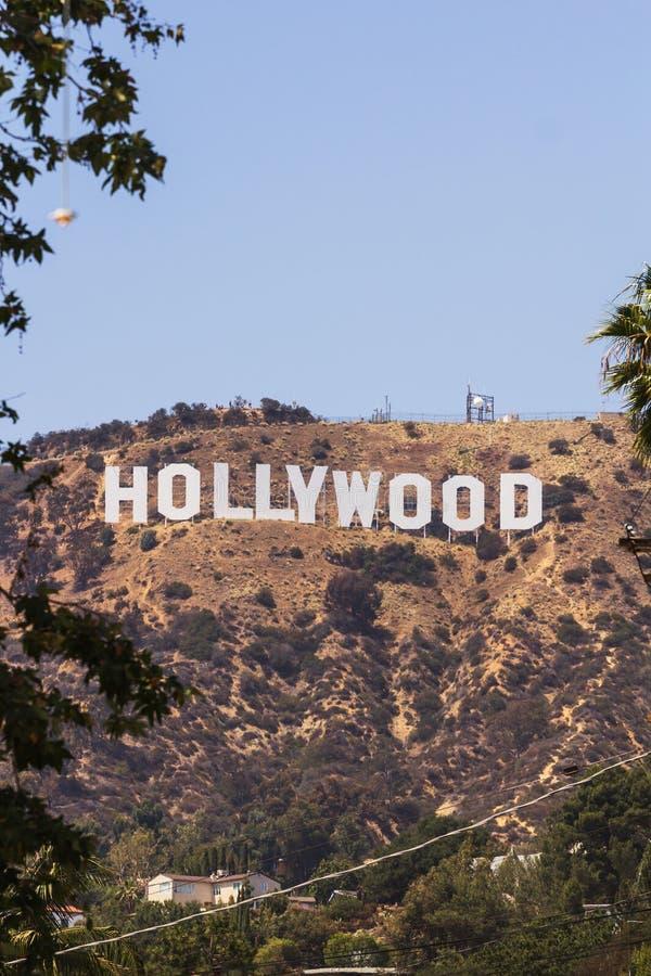 好莱坞签到登上李,洛杉矶 库存照片