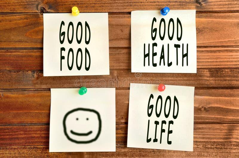 好食物好的生活 库存照片
