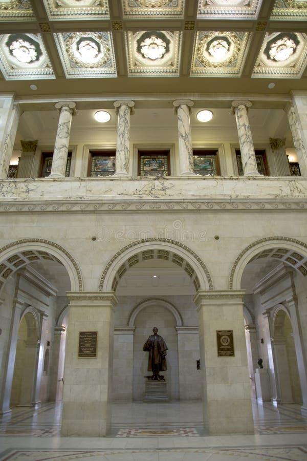 好马萨诸塞背景状态议院  免版税库存照片
