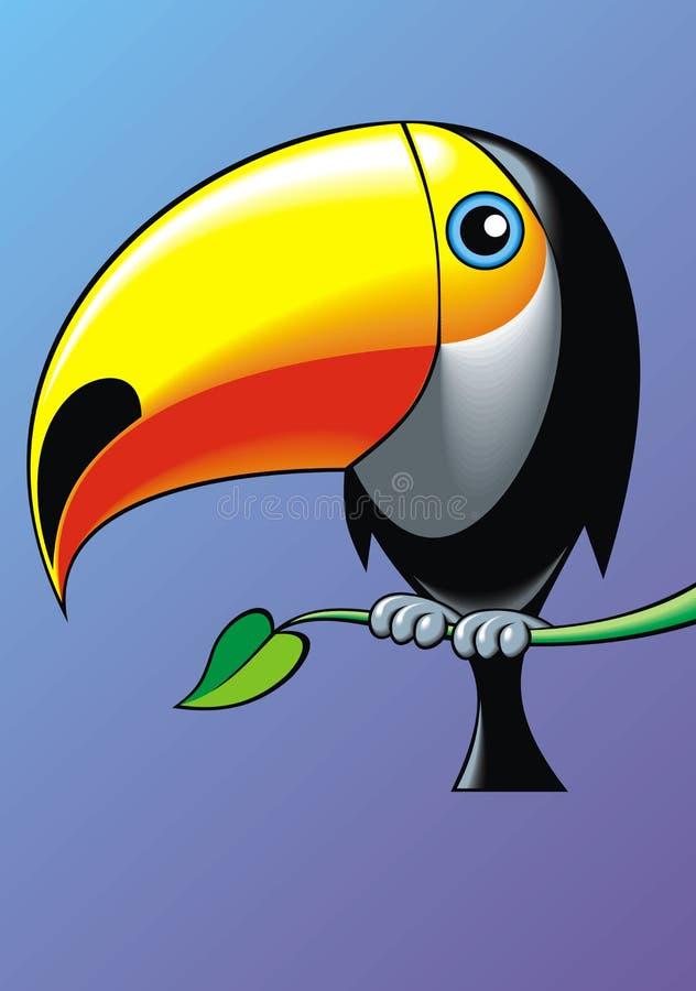 好toucan 皇族释放例证