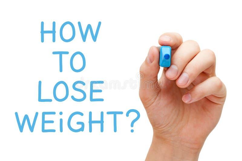 如何丢失重量手写的问题 库存照片