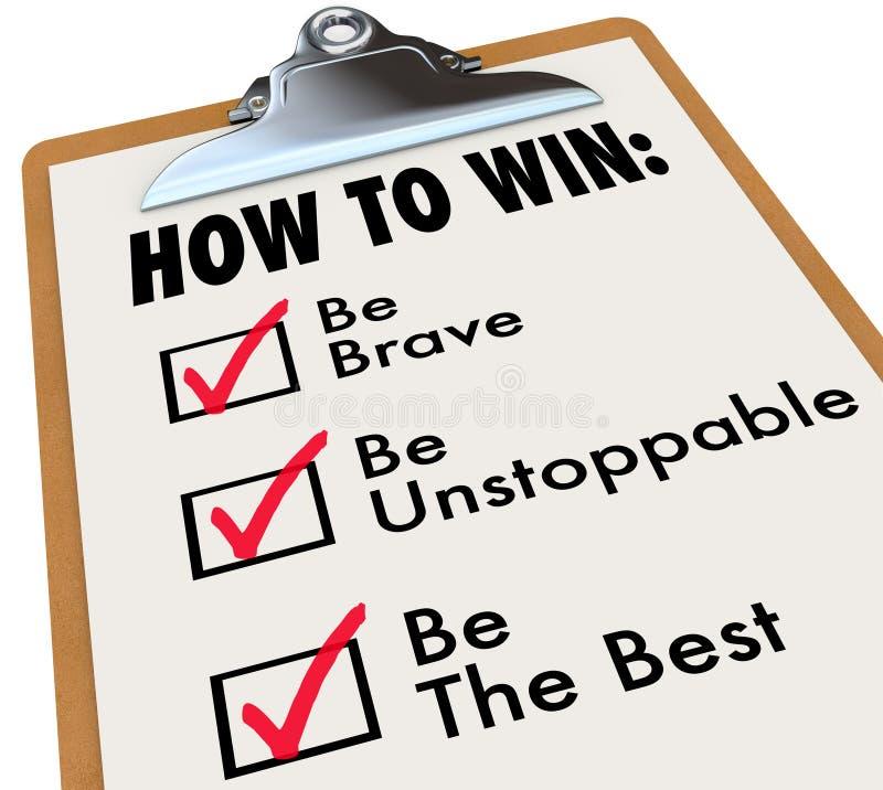 如何赢取清单校验标志箱子做名单 向量例证