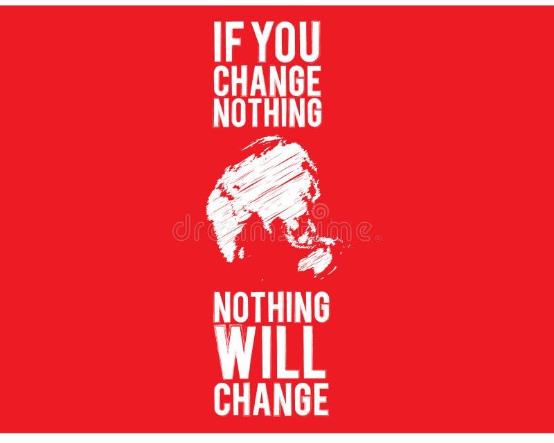 如果您什么都不改变,什么都不会改变 库存例证