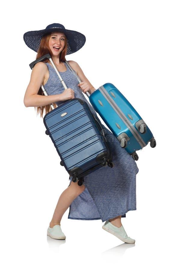 Download 妇女为在白色的暑假做准备 库存图片. 图片 包括有 乐趣, 节假日, alamos, 愉快, 背包, 诱饵 - 72367169