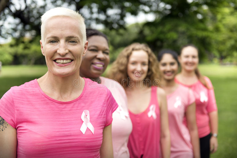 妇女乳腺癌支持慈善概念 免版税图库摄影