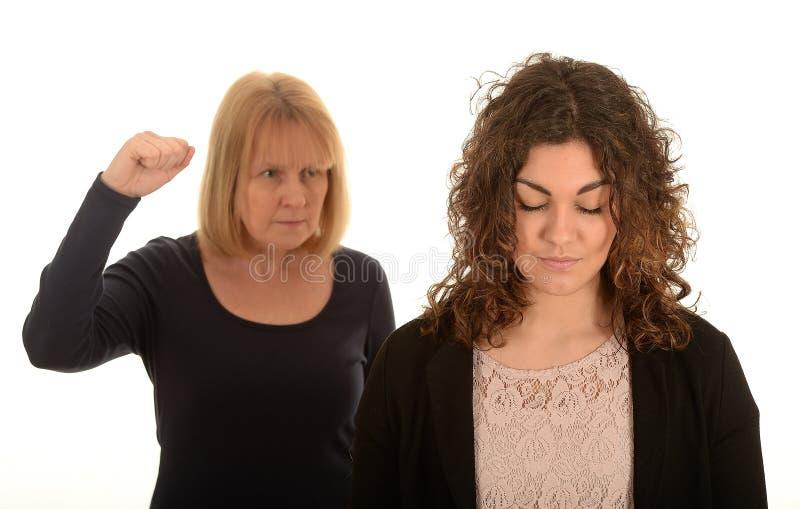 妇女争论 免版税图库摄影