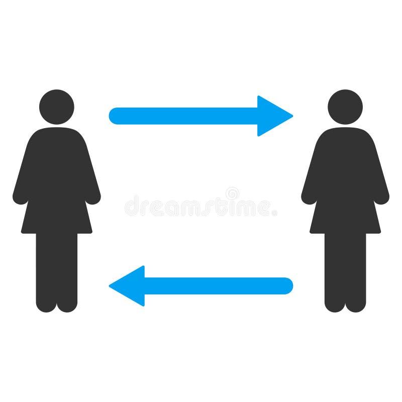 妇女交换箭头传染媒介象 库存例证