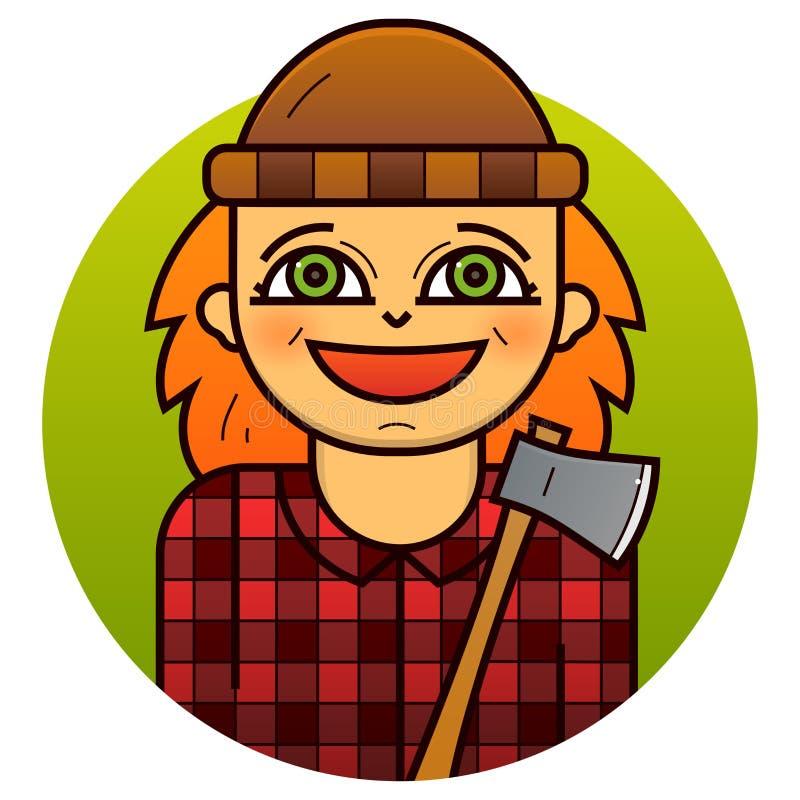 妇女伐木工人传染媒介例证 皇族释放例证