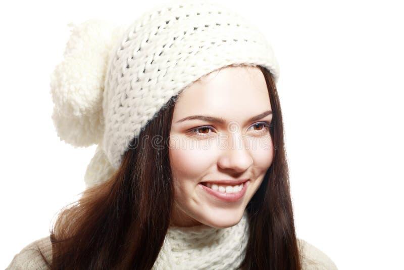 妇女佩带羊毛 免版税库存照片