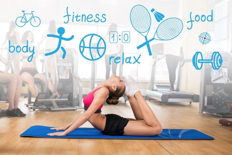 Download 妇女做体育锻炼 库存图片. 图片 包括有 女演员, 室内, 竹子, 图标, 女孩, beautifuler - 62526201