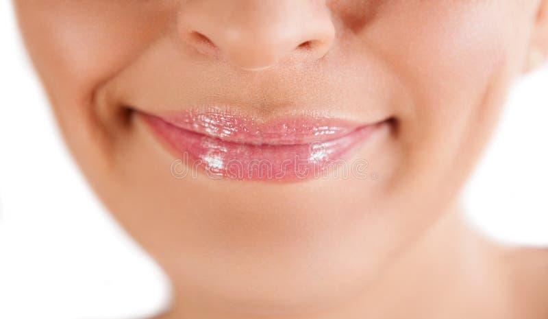 妇女健康嘴唇 库存图片