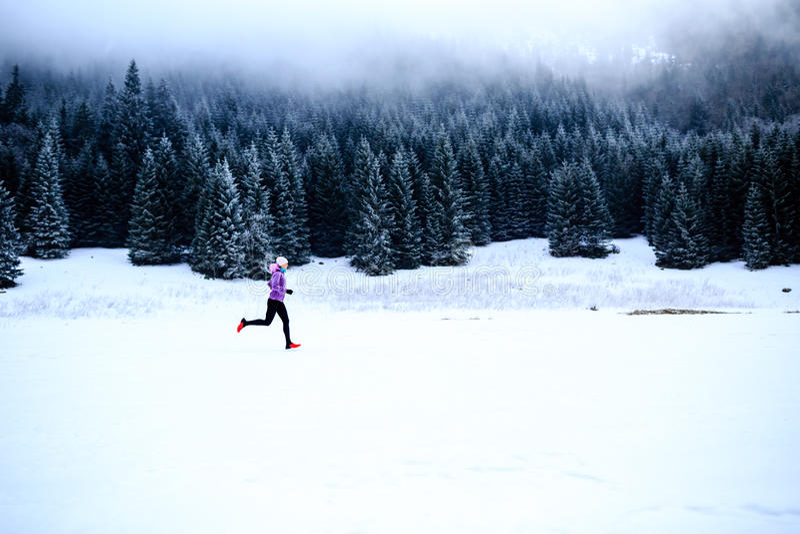 妇女健身启发和刺激,赛跑者 库存照片
