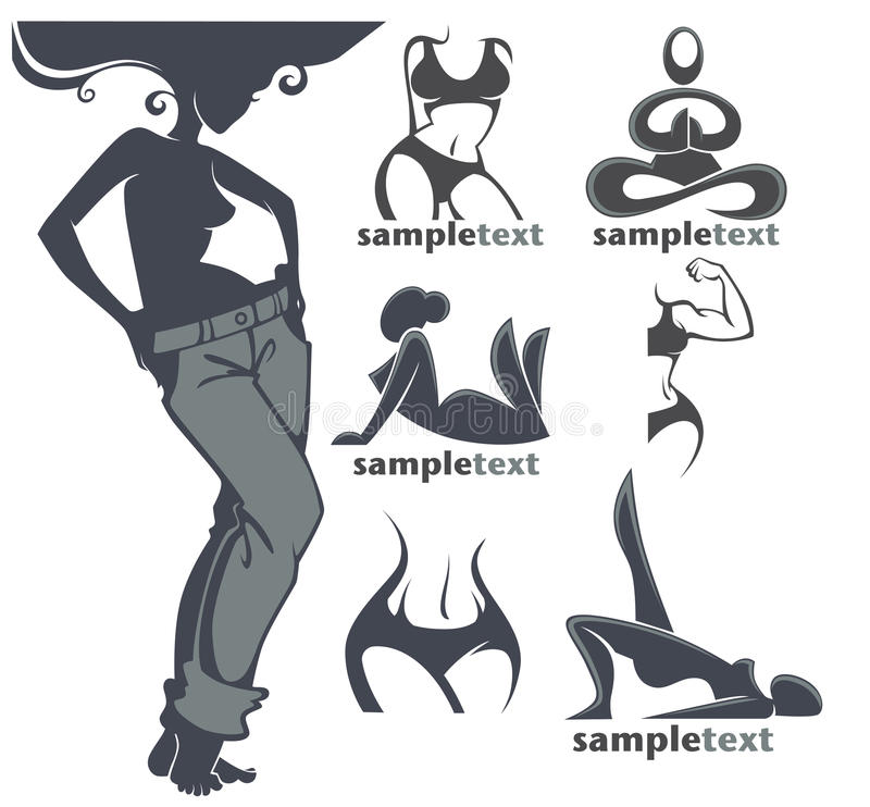 妇女健身 向量例证