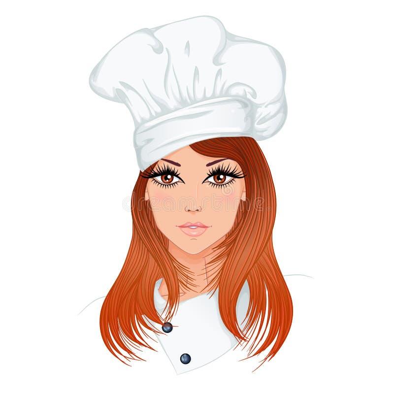 妇女厨师 向量例证