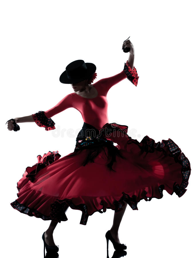 妇女吉普赛佛拉明柯舞曲跳舞舞蹈家 图库摄影
