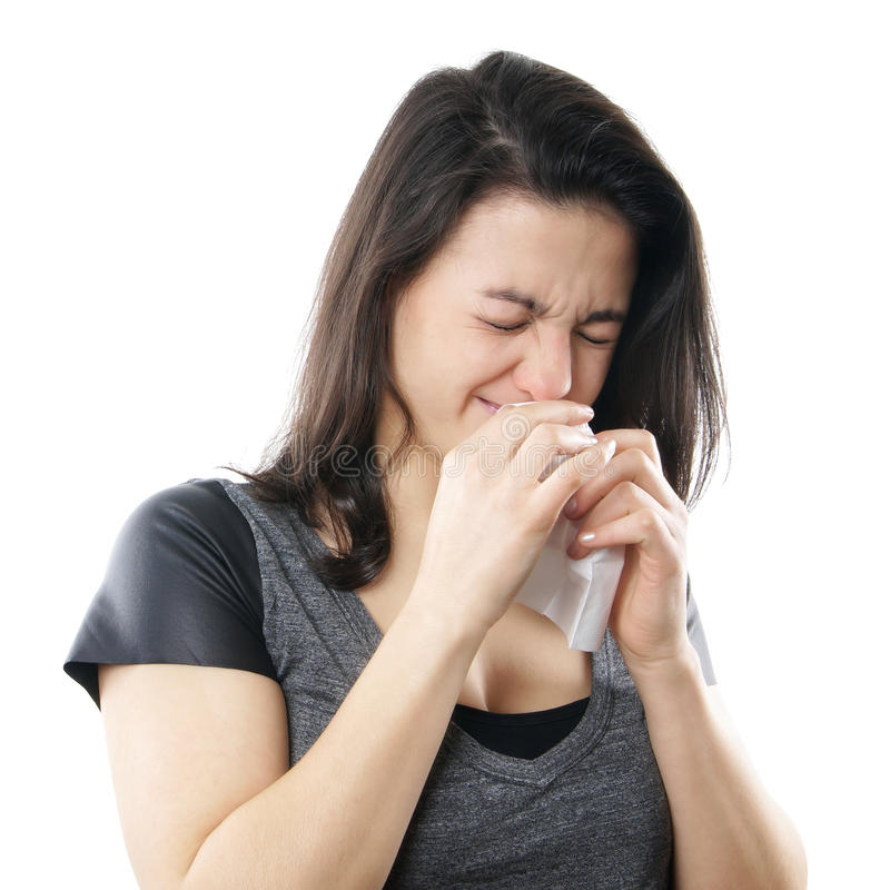 妇女哭泣 免版税库存照片