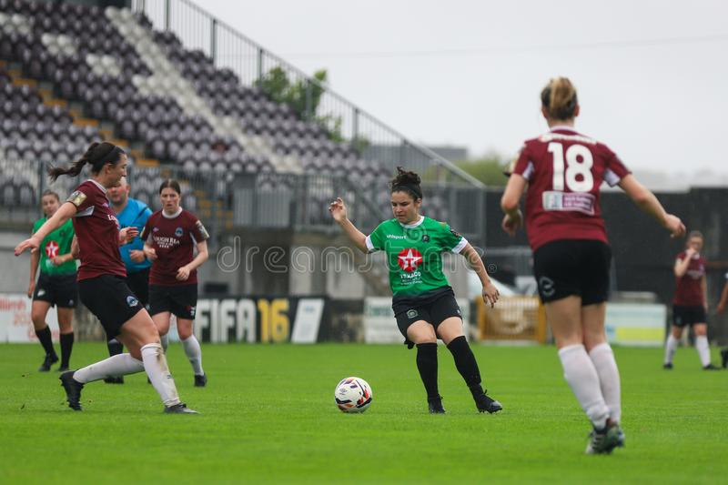 妇女国家联盟比赛:戈尔韦WFC对Peamount团结了 图库摄影
