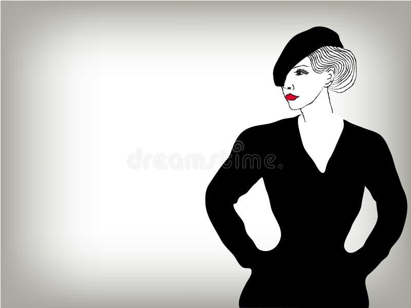 Download 妇女图象方式概念背景 向量例证. 插画 包括有 grunge, 单色, 眼睛, 女孩, 杂乱, 原始, 人员 - 22353455
