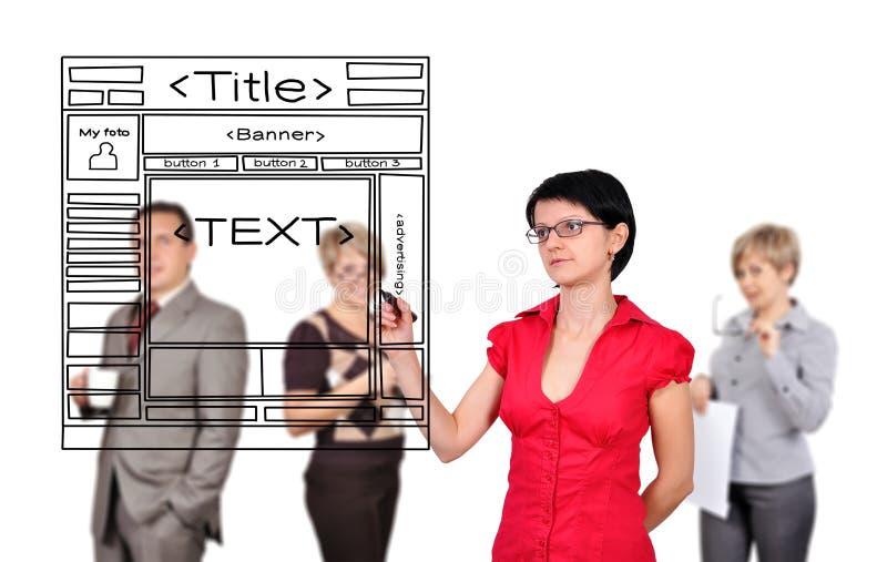 妇女图画网页 免版税库存图片