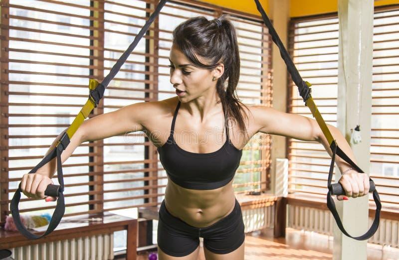 Download 妇女在体操里 库存照片. 图片 包括有 活动家, 妇女, 爱好健美者, 重量, 白种人, 健身, 三头肌 - 72357126