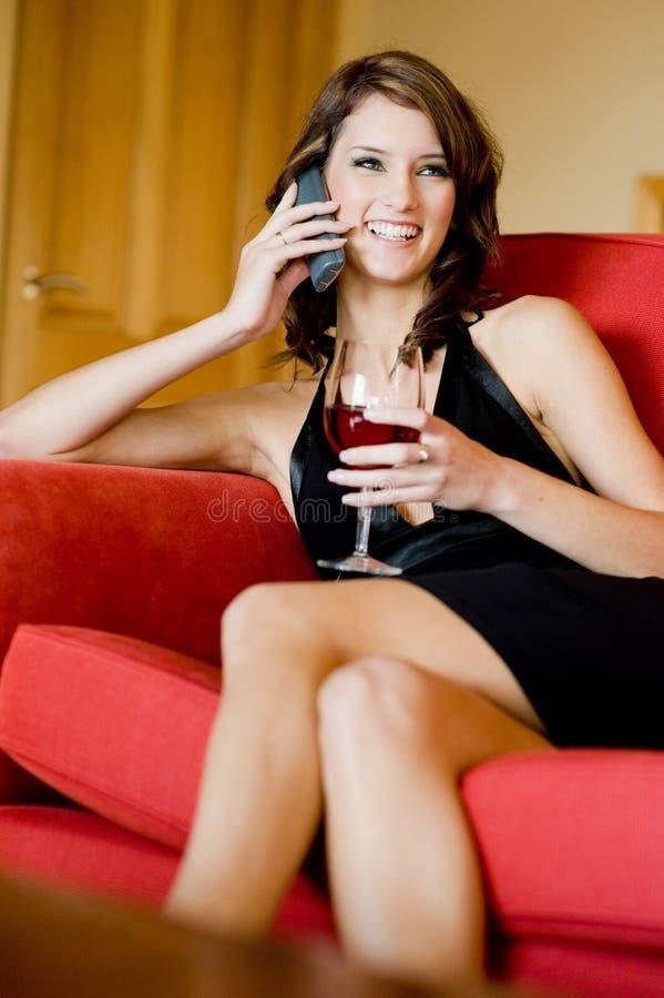 妇女在家 免版税库存照片