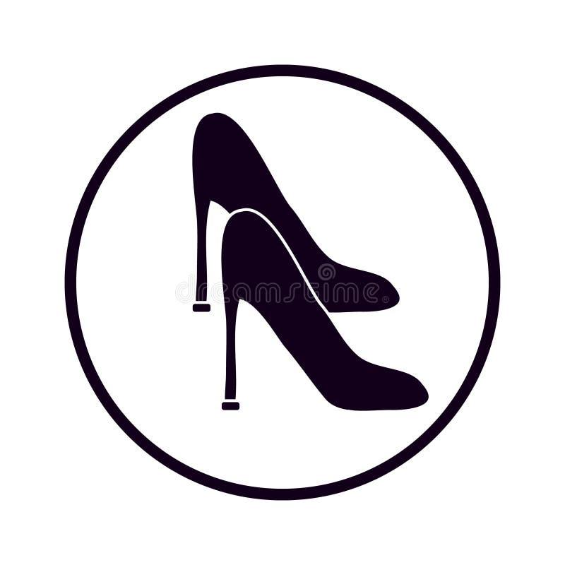 妇女在白色背景的` s鞋子 皇族释放例证