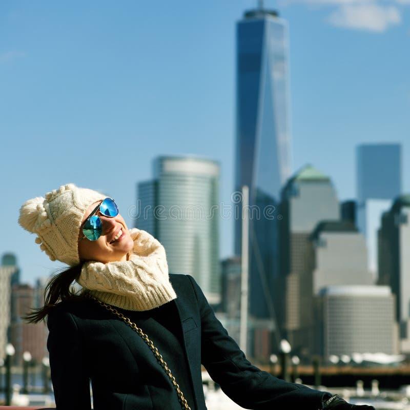 妇女在纽约 库存照片