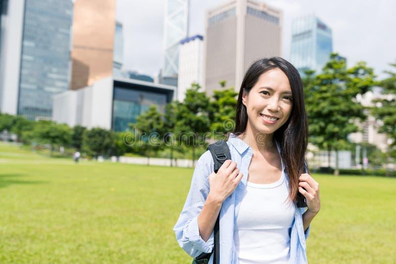 妇女在香港 库存照片