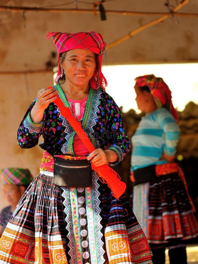 妇女在Mai Chau的市场上 库存照片