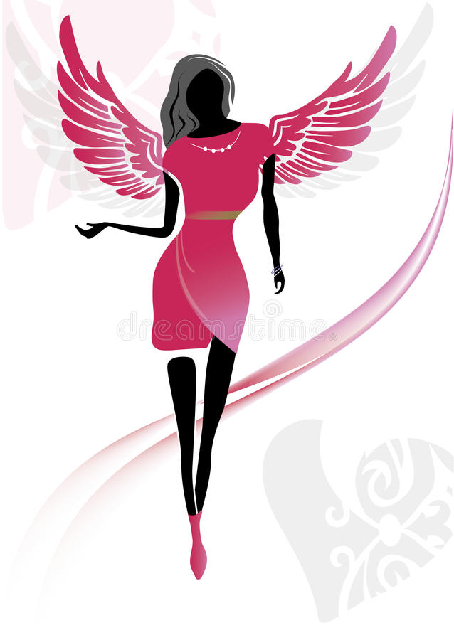 妇女天使 皇族释放例证