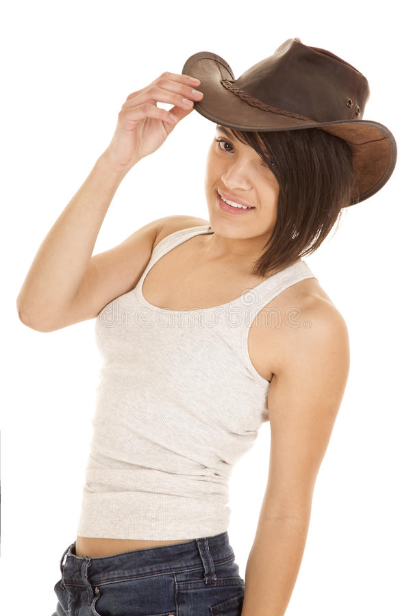 Download 妇女女牛仔帽子举行 库存照片. 图片 包括有 表面, 人员, 可爱, 牛仔布, 现代, 自然, beautifuler - 30325996