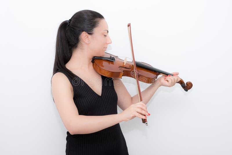 妇女小提琴 图库摄影