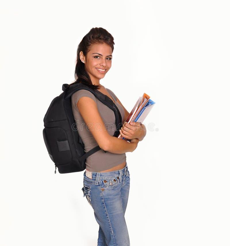 妇女年轻人的回到去的学校 库存照片