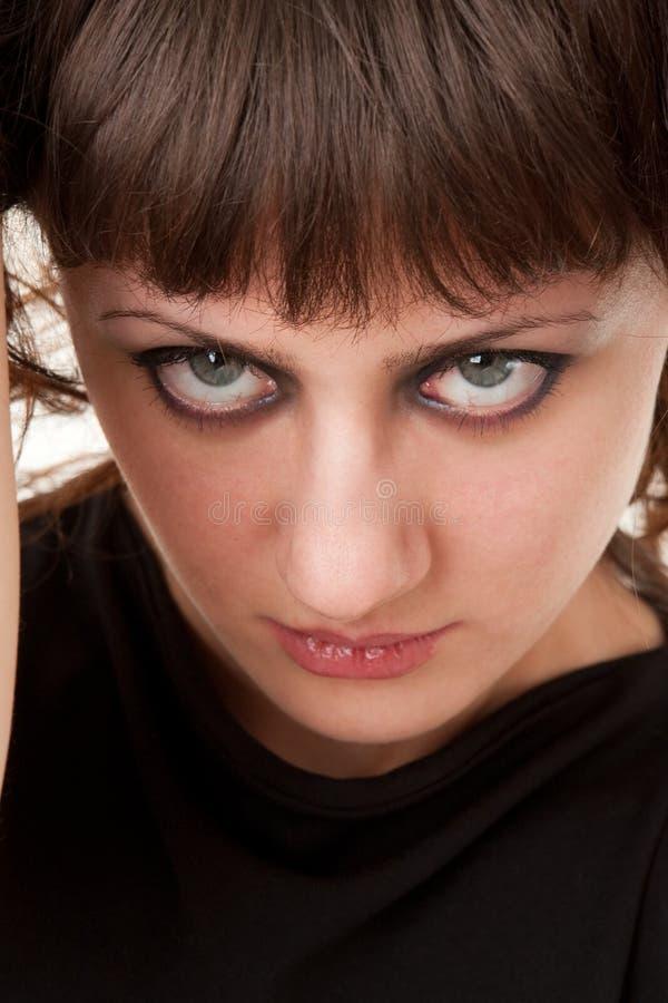 妇女年轻人的美好的关闭 免版税图库摄影