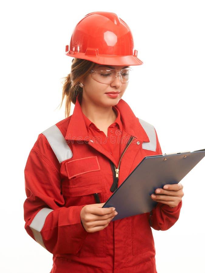 妇女建筑工人 免版税库存照片