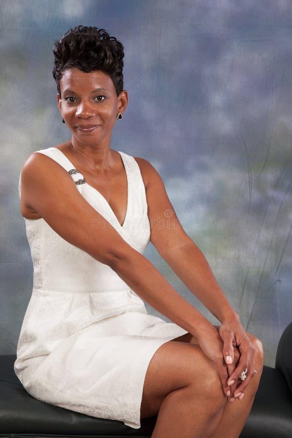 妇女微笑 免版税图库摄影