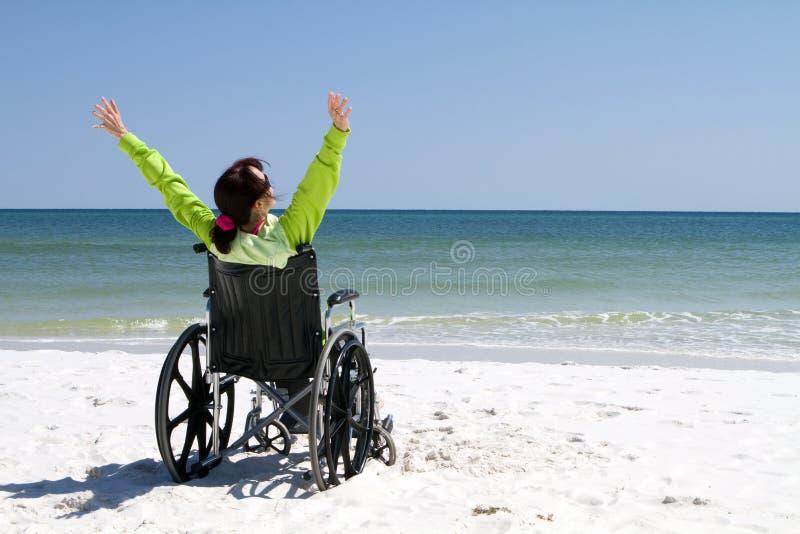 妇女成功残疾 免版税库存图片