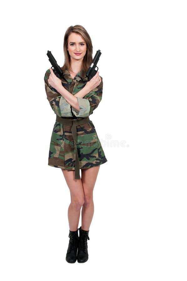 妇女战士 库存照片