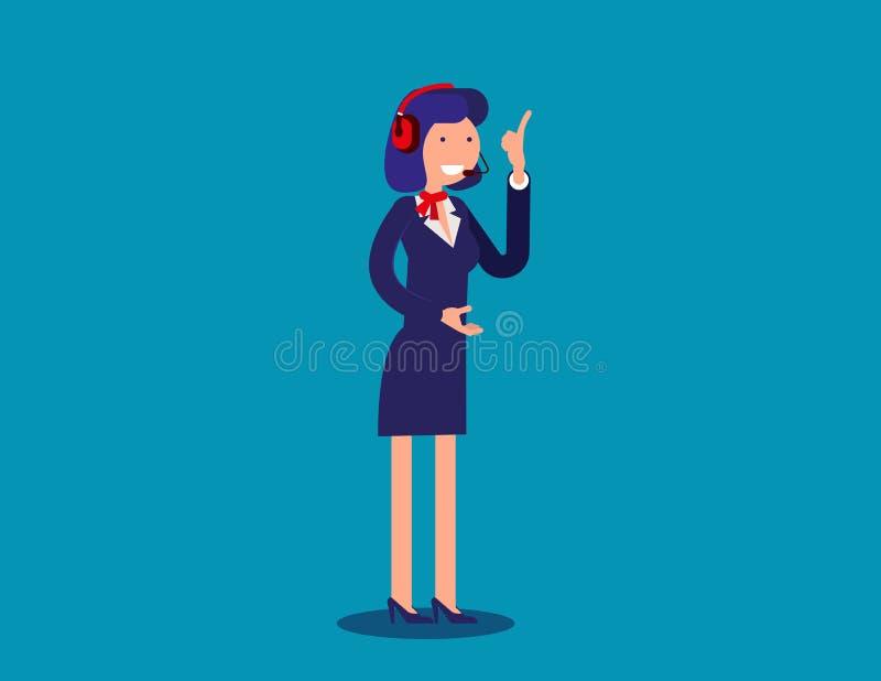 妇女技术支持或查明故障部门在事务 Co 库存例证