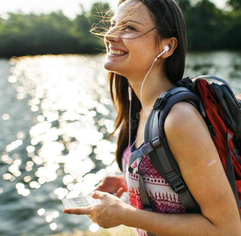 妇女旅行家 免版税库存图片