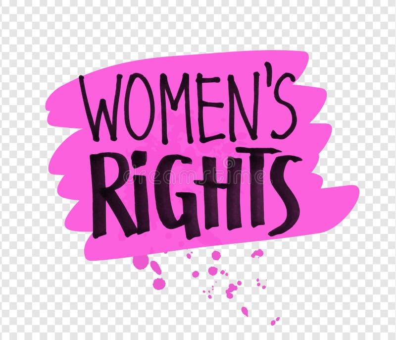 妇女权利口号的传染媒介例证 皇族释放例证