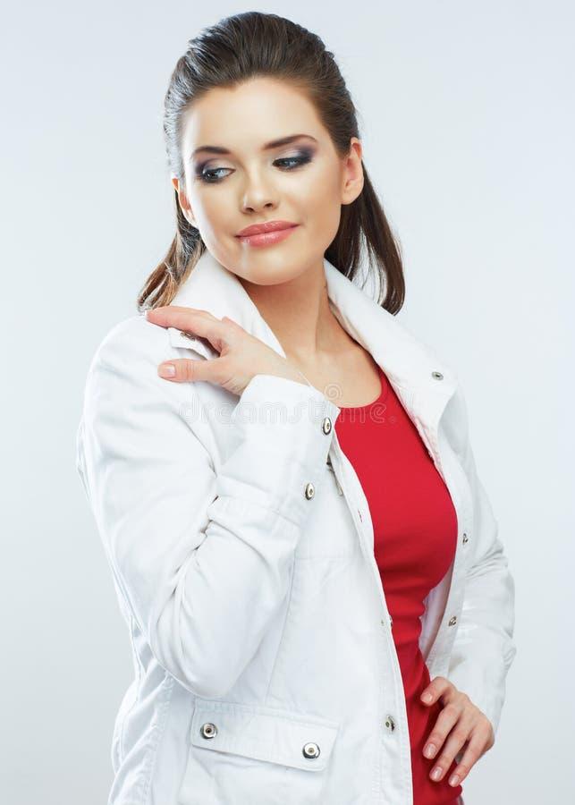 妇女模型 长期头发 免版税库存照片