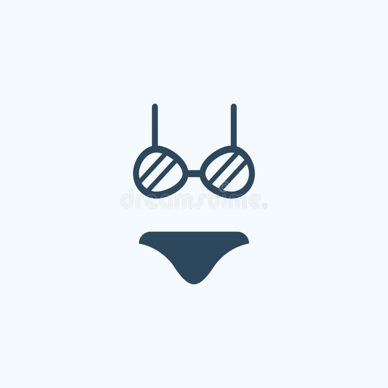 妇女比基尼泳装,内衣集合象 库存例证