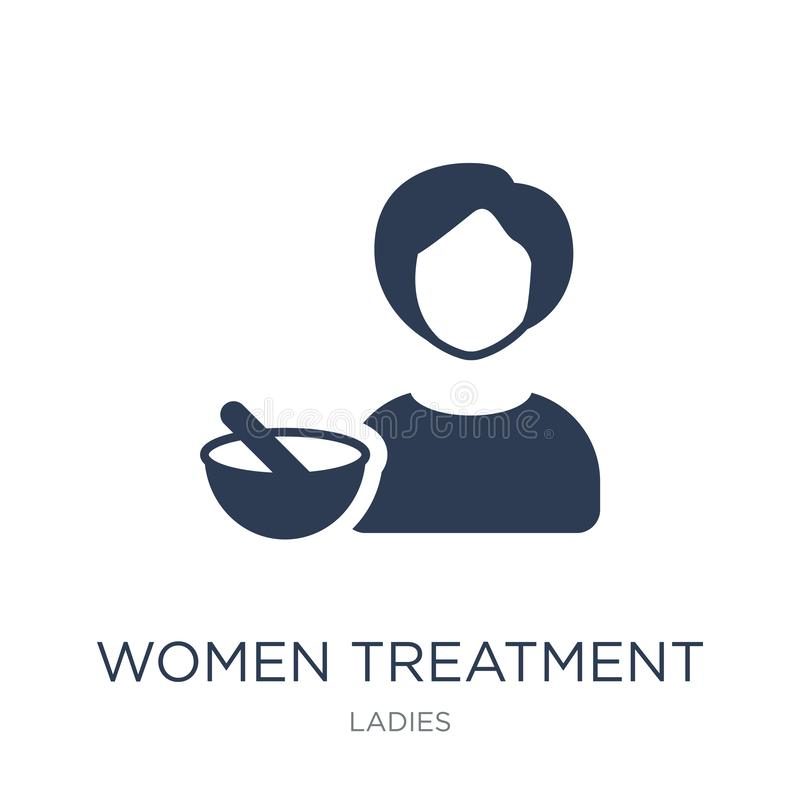 妇女治疗象 时髦平的传染媒介妇女治疗象 向量例证