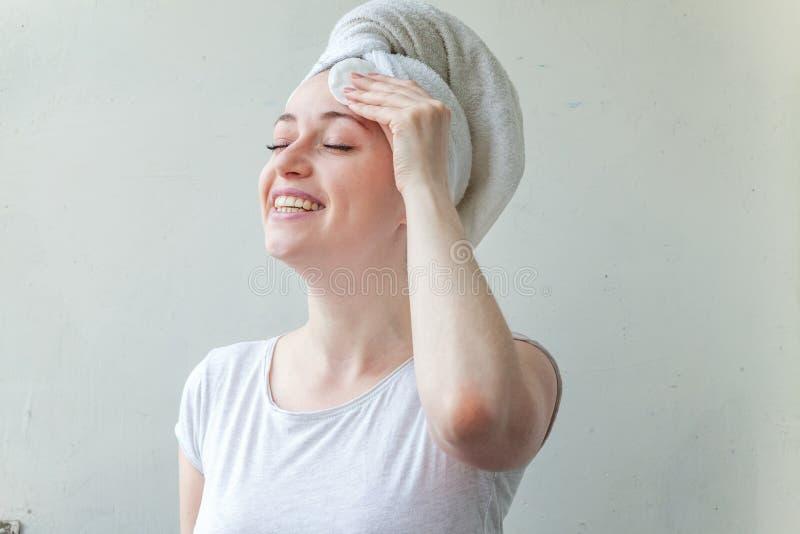 妇女洗涤化妆用品 库存图片
