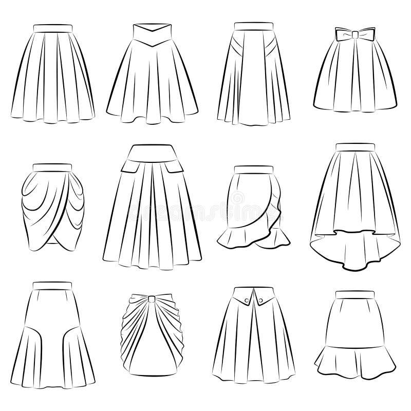 妇女浪漫裙子的汇集 皇族释放例证
