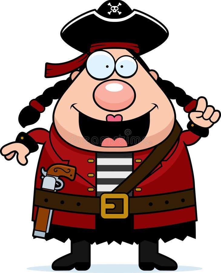 妇女海盗想法 库存例证