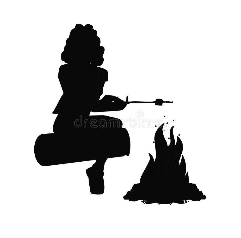 妇女烧烤蛋白软糖 免版税库存图片