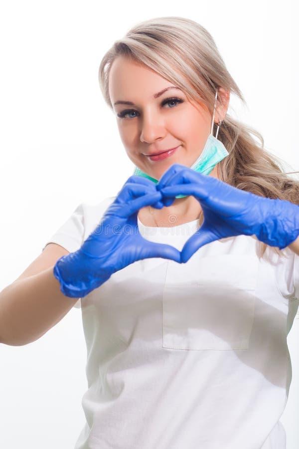 妇女牙医微笑 免版税库存照片